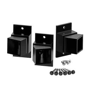 5/8 in. Black Aluminum Angle Fence Bracket (3-Pack)