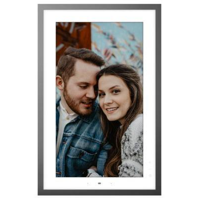 Smart Frame 21.5 in. Metallic Grey Picture Frame