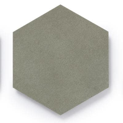 MosaiCore Pewter Hex 8.2 in. x 10.375 in. Glue Down Luxury Vinyl Tile (12.25 sq.ft./Case)