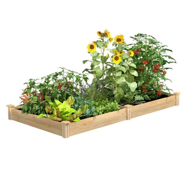 Greenes Fence 4 Ft X 8 Ft X 7 In Original Cedar Raised Garden Bed Rc48967 The Home Depot