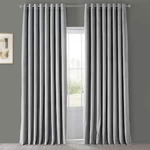 Silver Grey Grommet Blackout Curtain - 100 in. W x 84 in. L