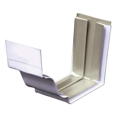 5 in. 30 White Aluminum Slip Joint Gutter Connector