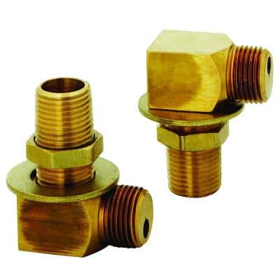 1/2 in. NPT Brass Installation Kit for Sink with (2) Elbows
