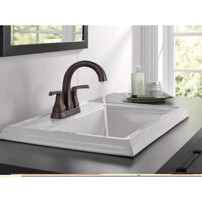 Portwood 4 in. Centerset 2-Handle Bathroom Faucet in Venetian Bronze