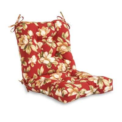 Roma Floral Outdoor Dining Chair Cushion