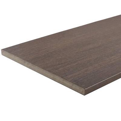 UltraShield 0.6 in. x 12 in. x 12 ft. Spanish Walnut Fascia Composite Decking Board