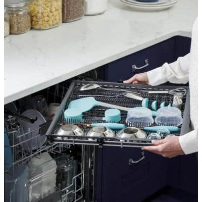 Adora 24 in. Black Top Control Smart Built-In Tall Tub Dishwasher 120-Volt with 3rd Rack, Steam Cleaning, and 48 dBA