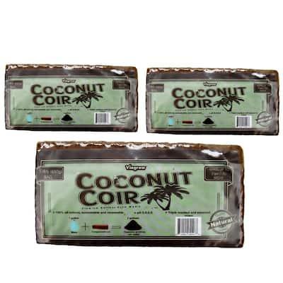 1.4 lbs./650g Premium Coco Coir, Soilless Grow Media, Coconut Coir Brick (3-Pack)