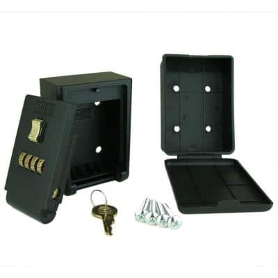 4-Number Combination Lockbox Wall Mount Key Storage Lock Box
