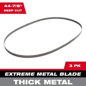 44-7/8 in. 8/10 TPI Metal Deep Cut Extreme Band Saw Blade (3-Pack)