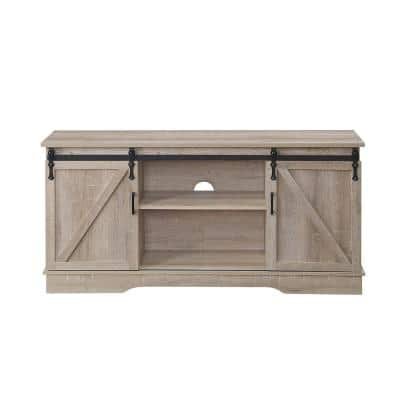Bennet 16 in. D Oak TV Stand with 6 Shelves Fits TV's up to 72 in.