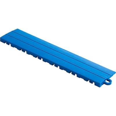 2.75 in. x 12 in. Royal Blue Pegged Polypropylene Ramp Edging for Diamondtrax Home Modular Flooring (10-Pack)