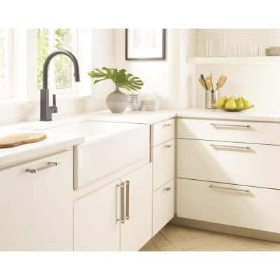 Silver Drawer Pulls Cabinet Hardware The Home Depot