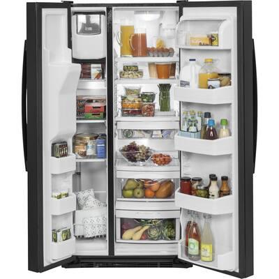 23.2 cu. ft. Side by Side Refrigerator in Black