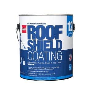 RoofShield Top Coat 1 Gal. White Acrylic Reflective Elastomeric Roof Coating (12-year Limited Warranty)