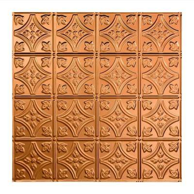 Traditional #1 2 ft. x 2 ft. Polished Copper Lay-In Vinyl Ceiling Tile ( 20 sq.ft. )
