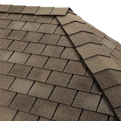 Timbertex Weathered Slate Double-Layer Hip and Ridge Cap Roofing Shingles (20 lin. ft. per Bundle) (30-pieces)