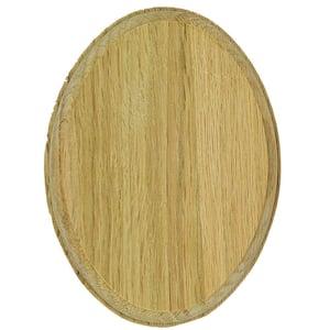 7337 Unfinished Oak Oval Rosette