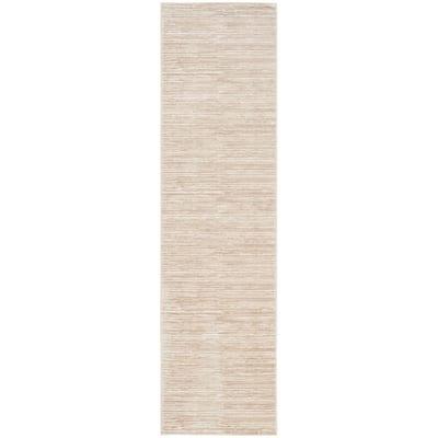 Vision Cream 2 ft. x 18 ft. Solid Runner Rug