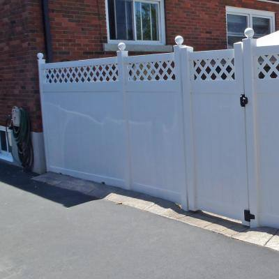 5 in. x 5 in. x 9 ft. Vinyl Fence Gate End Post