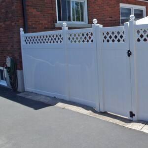 5 in. x 5 in. x 9 ft. Vinyl Fence Line Post