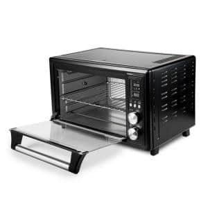 Smart Air Fryer Toaster Oven 30L Black with Extra Wire Rack