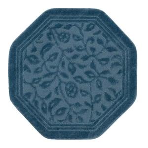 Wellington 48 in. x 48 in. Nylon Machine Washable Bath Mat in Blue