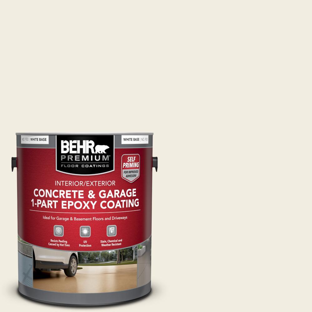 1 gal. #12 Swiss Coffee Self-Priming 1-Part Epoxy Satin Interior/Exterior Concrete and Garage Floor Paint