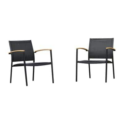 Grafton Stackable Sling Outdoor Sofa Chair (2-Pack)