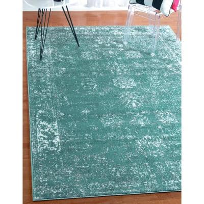 8 X 10 Turquoise Area Rugs Rugs The Home Depot