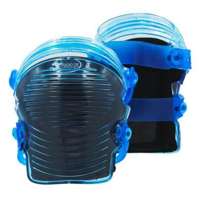 Professional GelDOME Gel Flexible Soft Cap Non-Marring Accordian Style Knee Pads with Gel Padding