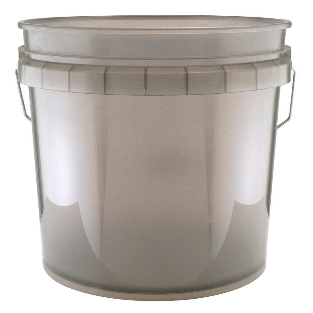 3.5 Gal. Translucent Gray Bucket