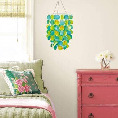 Pearl Blue and Green Chandelier