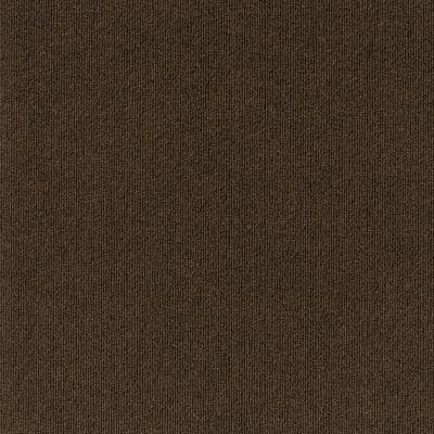 Peel and Stick First Impressions Mocha Ribbed Texture 24 in. x 24 in. Commercial Carpet Tile (15 Tiles/Case)