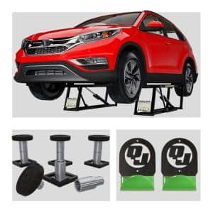 BL-7000SLX 7,000 lbs. Capacity Portable Car Lift Bundle Package with 12pc adapter set and wall hangers