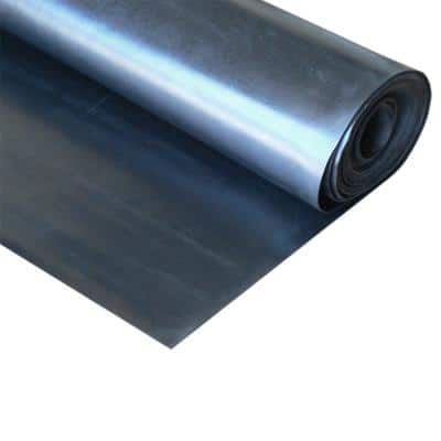 EPDM 1/8 in. x 36 in. x 168 in. Commercial Grade 60A Rubber Sheet - Black