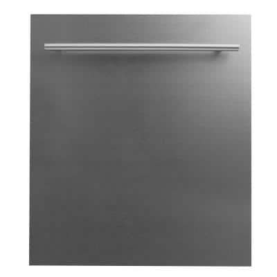 24 in. DuraSnow Top Control Dishwasher 120-Volt with Stainless Steel Tub and Modern Style Handle