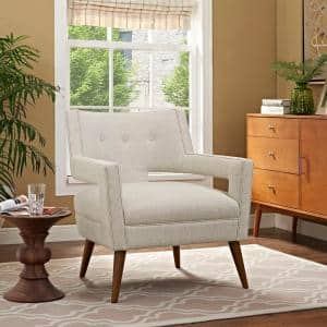 Sheer Sand Upholstered Fabric Armchair