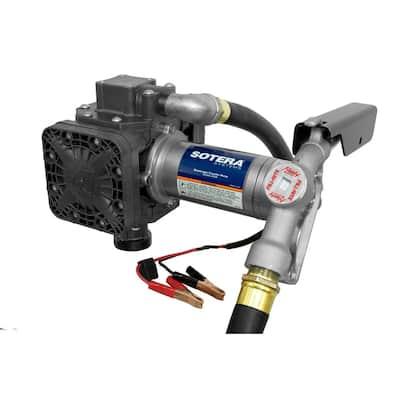 12-Volt 15 GPM 1/4 HP Oil Transfer Pump with Standard Accessories