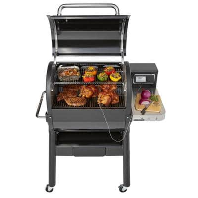 SmokeFire EX4 Wood Fired Pellet Smart Grill in Black (2nd Gen)
