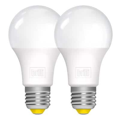 60- - -Watt Equivalent A19 Dimmable Brilli Wind Down Relaxing LED Light Bulbs White (2-Pack)