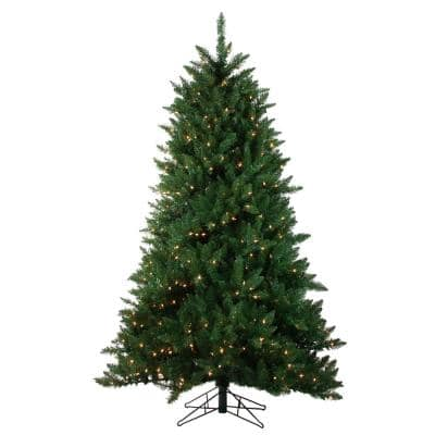 7.5 ft. Pre-Lit Montana Pine Artificial Christmas Tree - Clear Lights