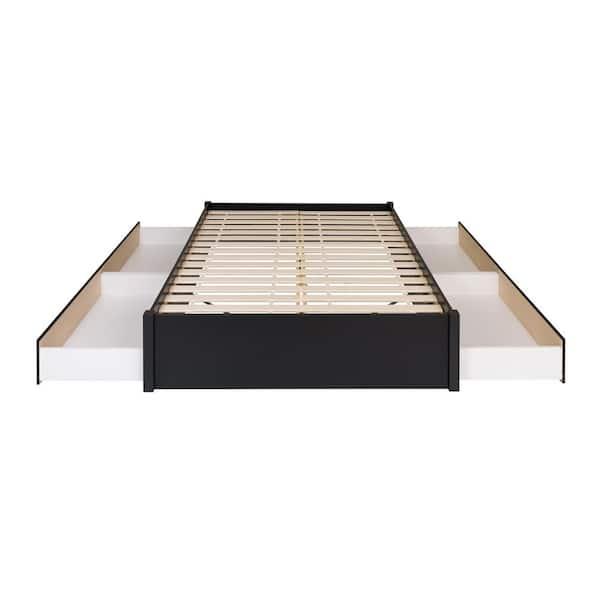 Black Queen 4 Post Platform Bed, Platform Beds With Storage Queen Size