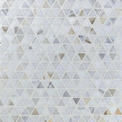 Calacatta 11.89 in. x 11.81 in. x 10mm Matte Marble Stone Mosaic Wall Tile (0.98 sq. ft.)