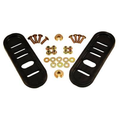 Universal Replacement Poly Slide Shoe Set for Most Two and Three Stage Snow Blowers (Set of 2, Hardware Included)
