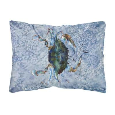 12 in. x 16 in. Multi Color Lumbar Outdoor Throw Pillow Crab