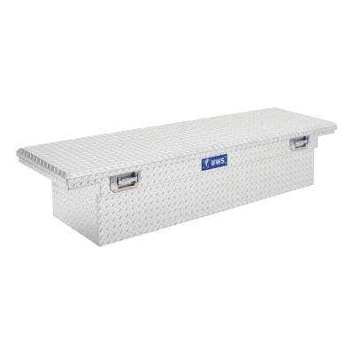 69.00 in Silver Aluminum Low Profile Crossbed Truck Tool Box