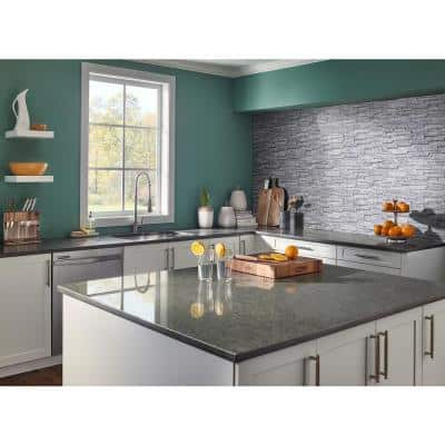 Alaska Gray Split Face 12 in. x 12 in. x 10 mm Textured Marble Mosaic Tile (10 sq. ft. / case)