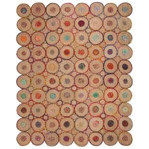 Cape Cod Red/Natural 8 ft. x 10 ft. Geometric Area Rug