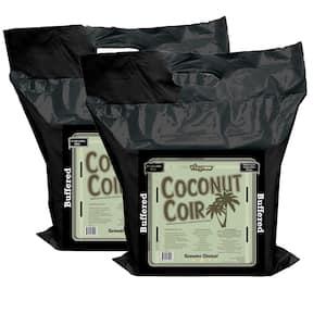 2 cu. ft. Coco Coir Compressed Premium Plant Growing Media 5 kg./11 lbs./72 Qt./18 Gal. (2-Pack)